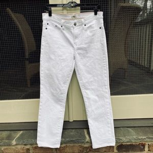 J. Crew White Skinny Jeans